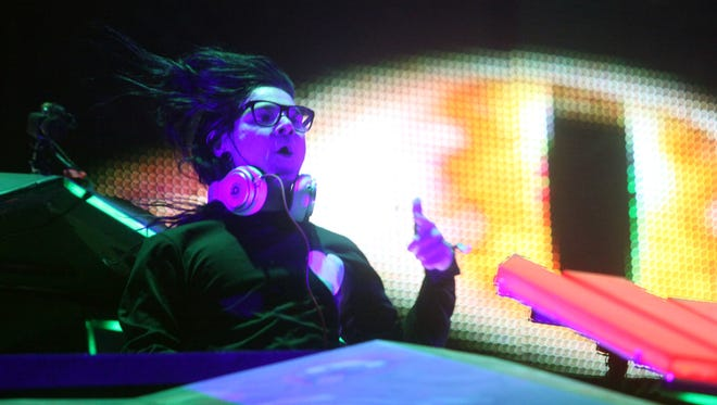 Skrillex, seen here in the Sahara tent during the 2014 Coachella Valley Music and Arts Festival, is scheduled to perform at Dayclub Palm Springs in April.