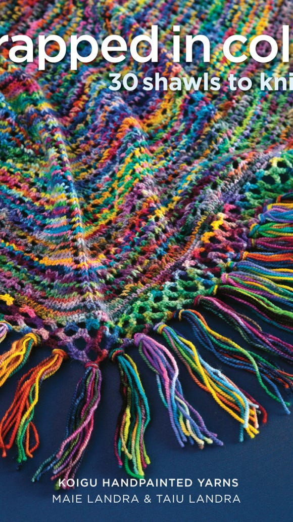 'Wrapped in Color' is a new book of shawls from Koigu Yarns and Sixth & Spring Books.