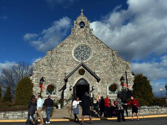 The Church of the Holy Trinity in the town of Poughkeepsie