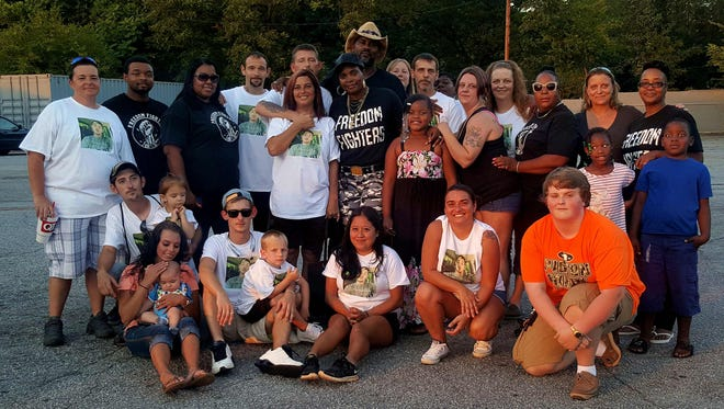 Family and friends join Freedom Fighters Upstate SC at the Candlelight Vigil for Christopher Shane Satterfield.