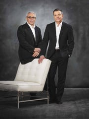 """Mitchell Gold (left) and Bob Williams have been crafting """"green"""" furniture for 25 years, building eco-responsible furniture in their North Carolina-based factory. (Courtesy Mitchell Gold + Bob Williams/MCT)"""