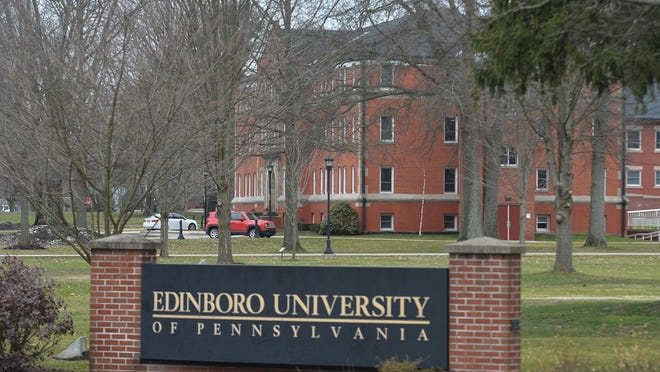 Reeder Hall at Edinboro University of Pennsylvania is shown on March 11. Edinboro University officials are reviewing more than 80 academic programs, including about eight fine arts programs, as they prepare to eliminate or alter programs and reduce faculty and staff.