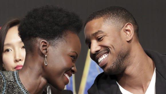 'Black Panther' stars Lupita Nyong'o and Michael B.