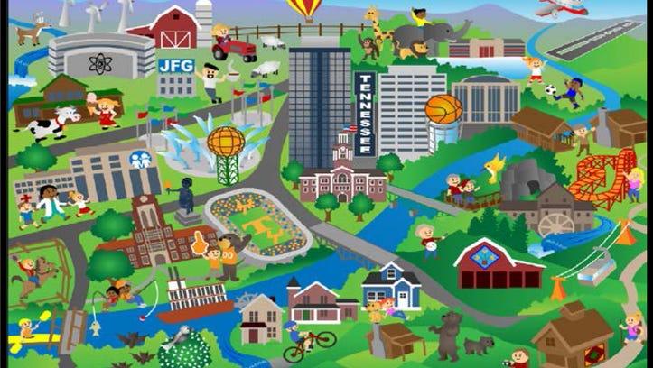 Artists rendering of mosaic for  East Tenn. Children's