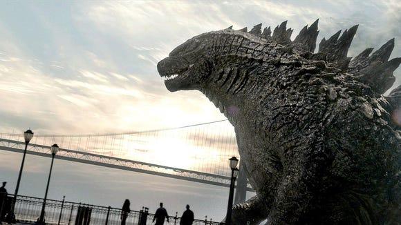 Godzilla flexes in 2014's 'Godzilla.' Kyle Chandler