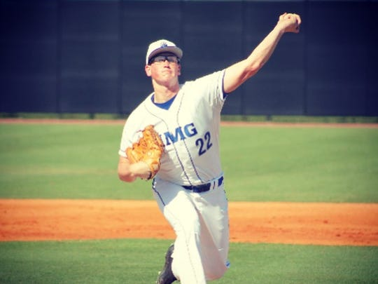 Barnegat's Jason Groome pticing for IMG Academy in Bradenton, Fla. last year, where he went 5-0 as a junior.