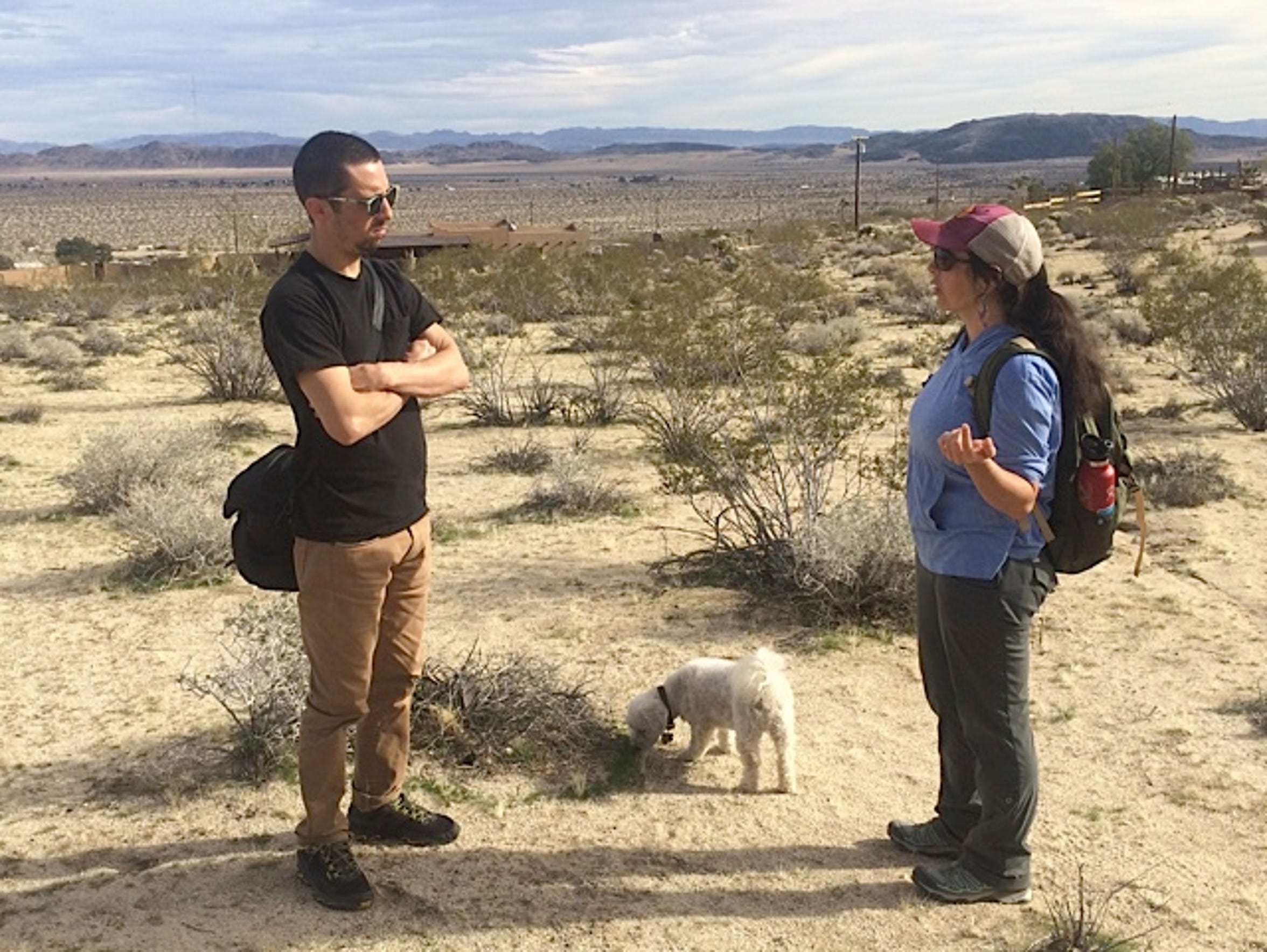Artist Gregory Michael Hernandez works with Mojave