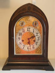 In this recent photo, a newly repaired clock waits