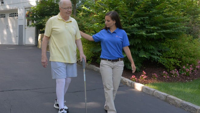 """Visiting Nurse Services in Westchester's in-home joint replacement therapy program, """"RESTORE"""", helps patients to regain mobility, restore range of motion and achieve independence following total knee and hip replacement surgery."""