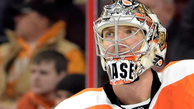 Steve Mason left Wednesday's practice with an injury and will have an MRI.
