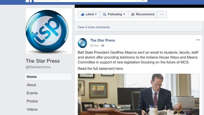 The Star Press Facebook Page