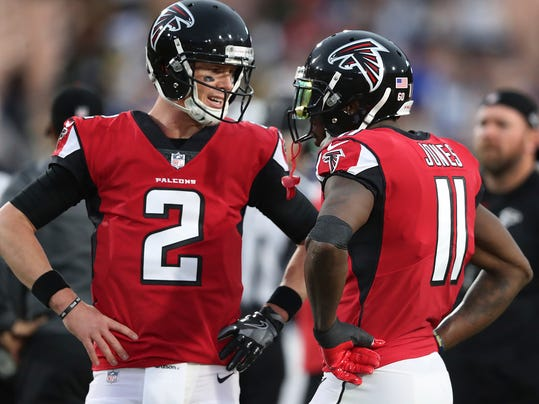 Falcons' Jones ignores aches and pains to stay on the field  Julio