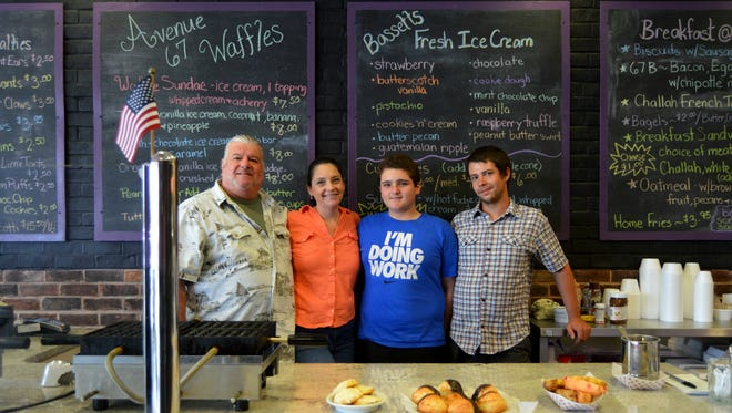 John, Angela, Justin and Jonathan Parana. The family recently opened Avenue 67 Cafe, transforming the space previously filled by Nonna's Sweet Treats.
