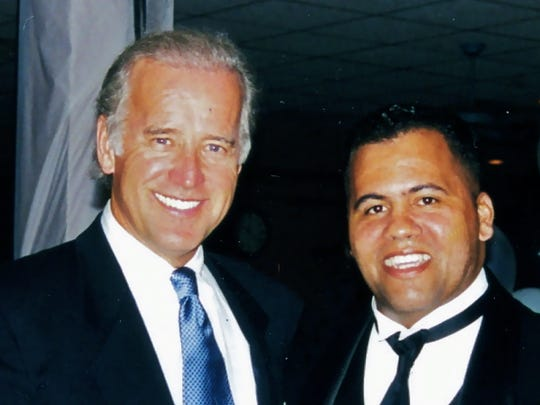 Mike Miller, now running for the U.S. House, is shown with Vice President Joe Biden. Miller is seeking the seat being vacated by Congressman John Carney.