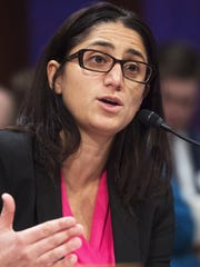 Dr. Mona Hanna-Attisha, director of the Pediatric Residency Program at Hurley Medical Center who exposed high lead levels in the Flint, Mich. water supply, testifies Feb. 10, 2016, on Capitol Hill in Washington.