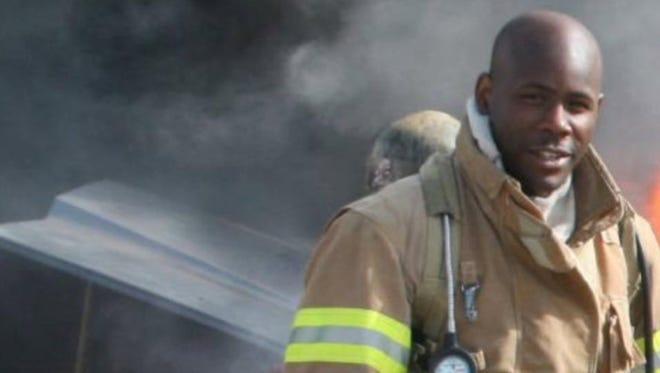Firefighter Ervin J. Montgomery died Thursday.