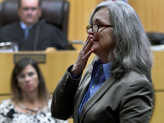 Prosecutor Leslie Nassios during her closing arguments