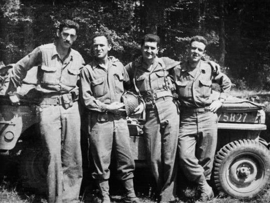 J.D. Salinger and war buddies