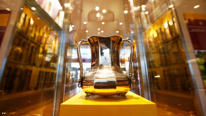The Territorial Cup on display at ASU on Nov. 17.