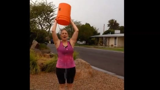 "Kyrsten Sinema said on Twitter: ""I accept the #ALS #IceBucketChallenge to #strikeoutALS and nominate Dr. Raul Ruiz Greg Stanton and Corey Woods."""