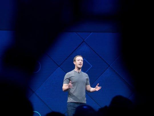 Facebook CEO Mark Zuckerberg briefly addressed violence
