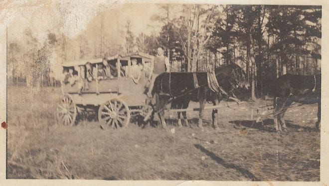 Early School Bus in Houston County, Undated