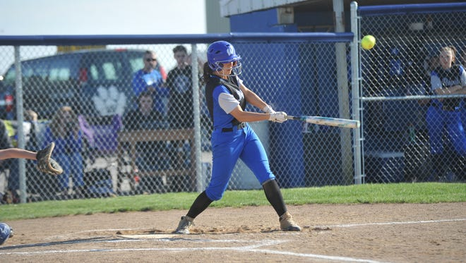 Wynford's Jenna Coffman drives in a pair of runs in the sectional semifinal.