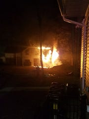 A fire destroyed a home at 38 S. Madison Ave. in Ramapo