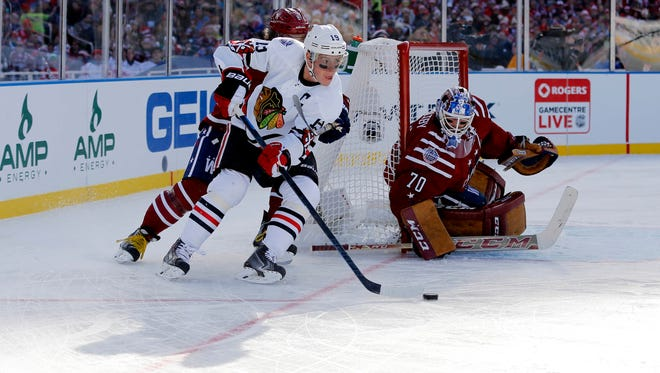 Chicago Blackhawks captain Jonathan Toews was frustrated that his penalty ultimately led to the  Washington Capitals' 3-2 win in the Winter Classic.