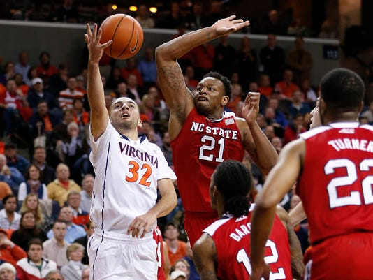 NCAA Basketball: North Carolina State at Virginia