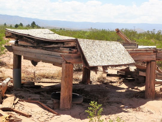 The remains of Franklin Herrera's hen house on his