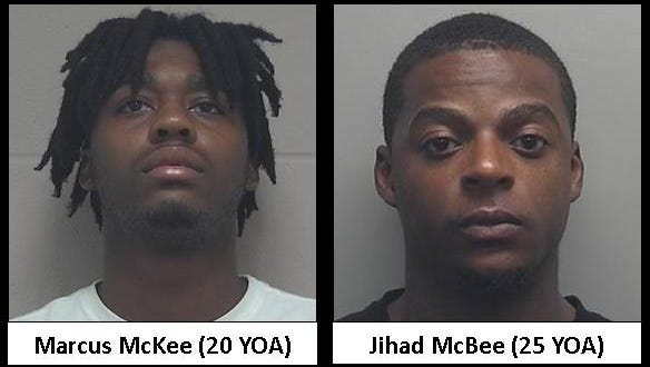 Marcus McKee, left, and Jihad McBee are suspects in a shooting Aug. 16 on Sheboygan's south side.
