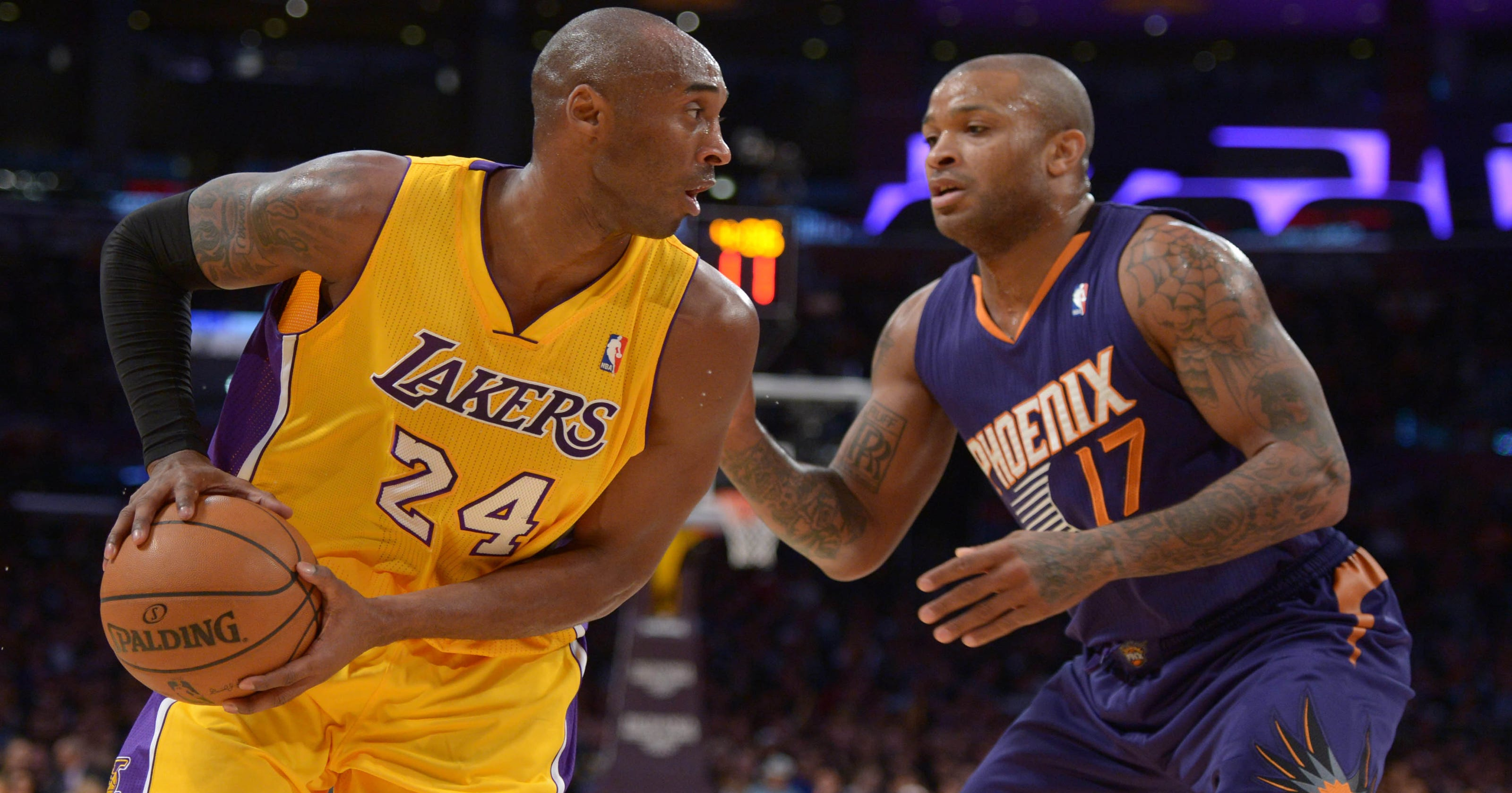 huge discount eb71d b3cdc Kobe Bryant better, but  struggling  Lakers fall to Suns