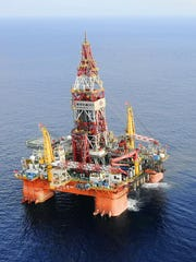 An offshore drilling rig that opened in China earlier