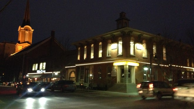 The Iowa City Downtown District flipped the switch Wednesday on the Northside Marketplace lighting project.