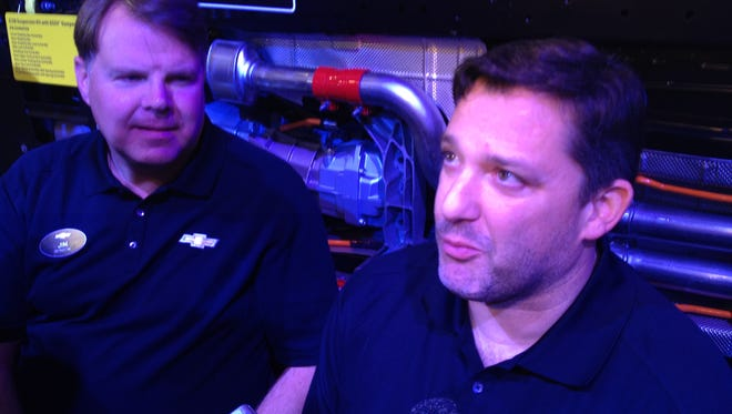 Tony Stewart attended Thursday's Performance Racing Industry trade show on behalf of Chevrolet.