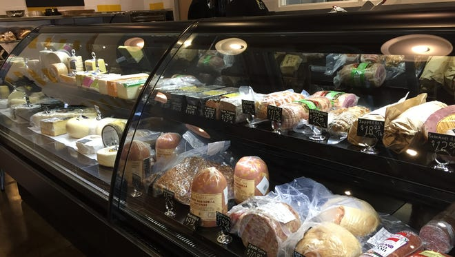 Local meats and cheeses jam the deli cases at R2GO market.