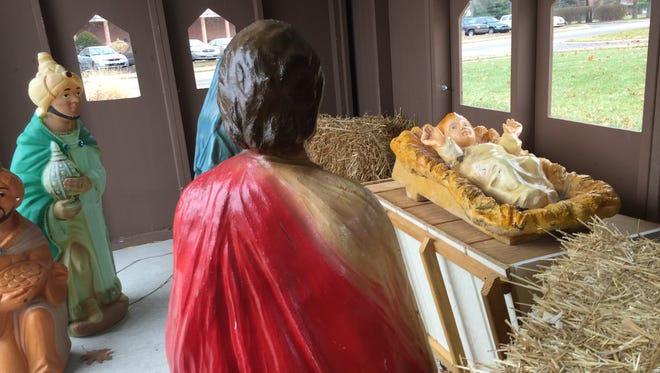 After going missing for five days, baby Jesus is once again the focal point of the Indiana Masonic Home's Nativity scene. The statue is being fitted with a GPS unit to thwart future thieves and pranksters.