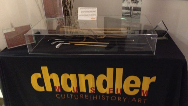 The golf clubs belonging to the city of Chandler's founder were stolen.