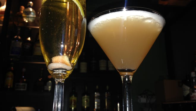 A champagne cocktail and French Martini at Bella Fresca in Shreveport.