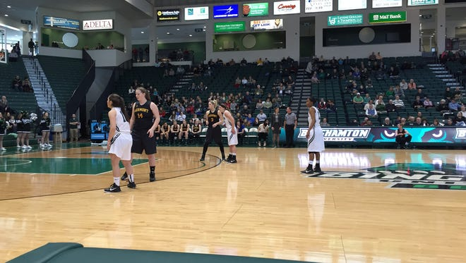 The Binghamton University women's basketball team hosted the University of Vermont on Saturday afternoon in the Events Center.