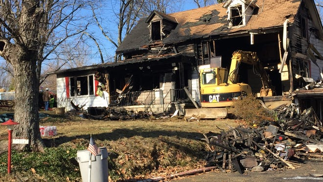An elderly couple died in a fire in Green Township Friday night, officials confirmed.