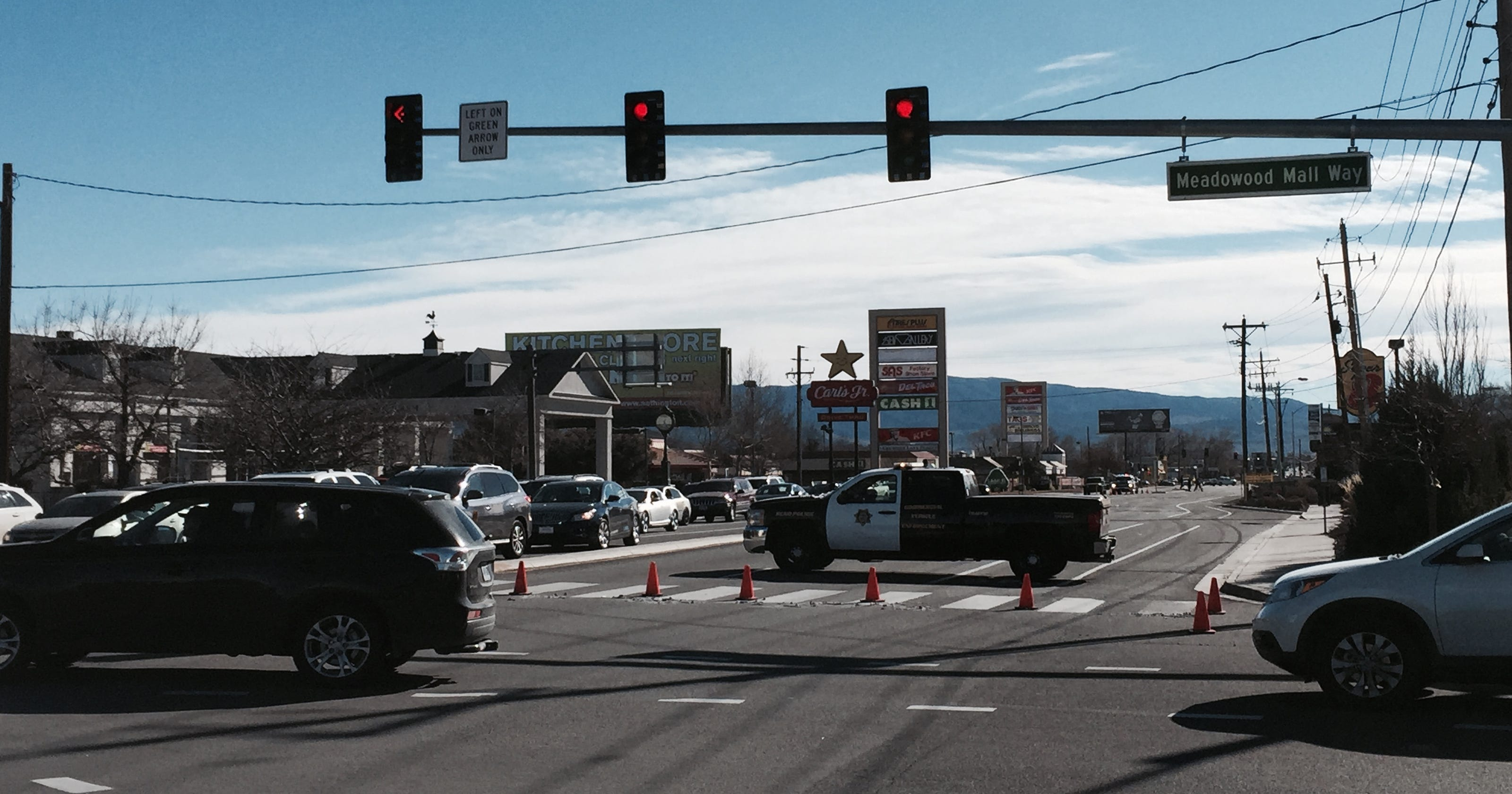 Update: South Virginia Street open after wreck clean up