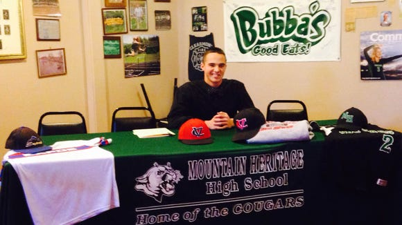 Mountain Heritage senior Gray McCurry has signed to play baseball for Catawba Valley Community College.