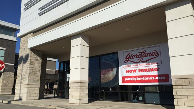 Look for Giordano's a few doors away from Nordstrom Rack and Harry & Izzy's. The pizzeria is at at 4110 E. 82nd St. in Rivers Edge shopping center.