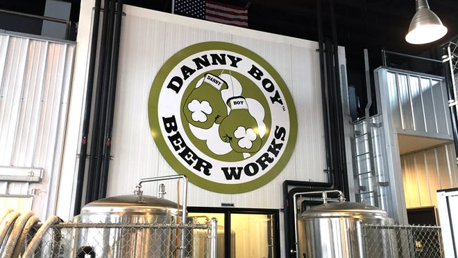 The logo on the wall of Danny Boy Beer Works in Carmel.