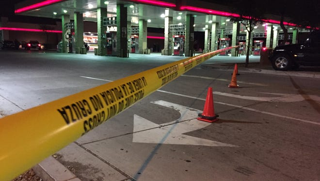 One person was killed in a shooting at a Mesa QT on Jan. 22, 2015, that sparked a high-speed chase through the Valley.