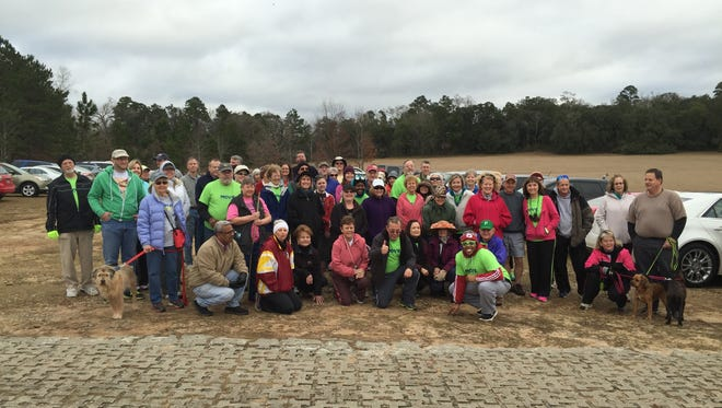 Move.Tallahassee before we set out on the J.R. Alford Greenway trail Saturday, Ja. 24, 2015.