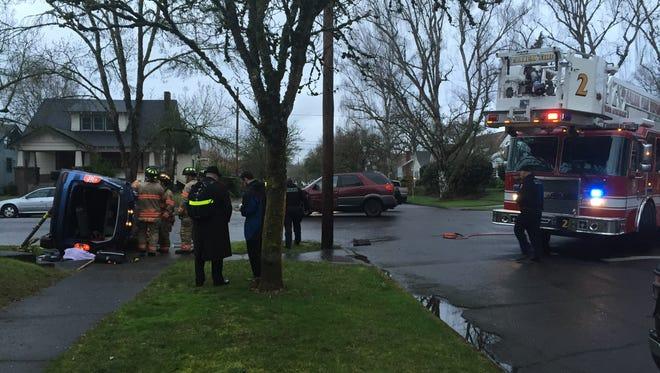 Crash at Summer Street and Belmont Monday morning.