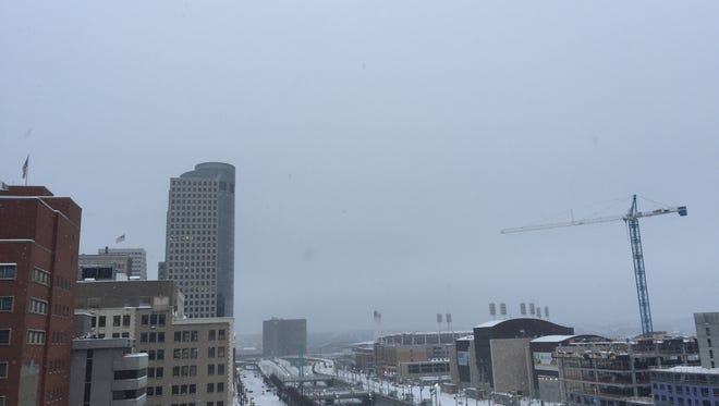 Greater Cincinnati received 4.7 inches of snow Friday evening and Saturday morning, prompting Hamilton County to issue a level 2 snow advisory.
